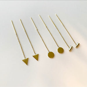 Triangle Threader Ohrringe | 14 Karat Gold
