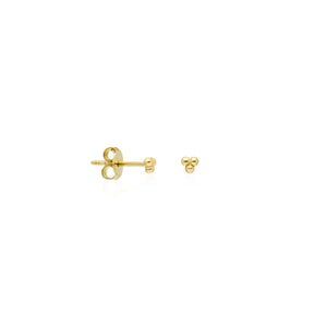 3 borchie di perline | Oro 14k
