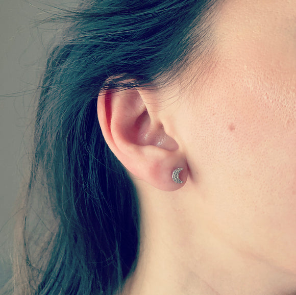 Little Moon Stud Earrings