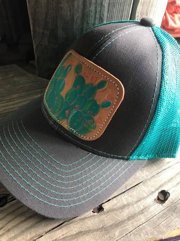 Cactus Hat with Turq. Back