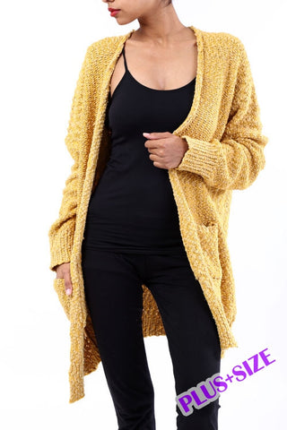 Plus Size Sweater Cardigan
