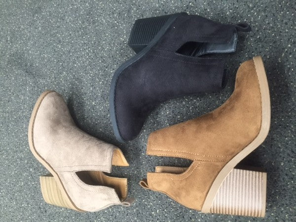 Side Cut out Booties