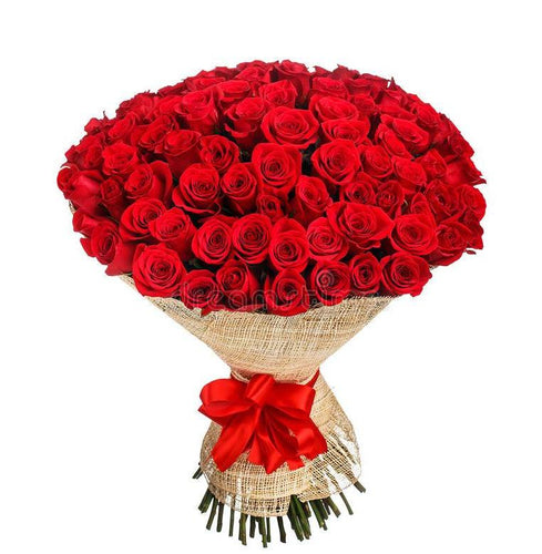 Bouquet Red - 100 Rosas Colombianas - Itaim Flores