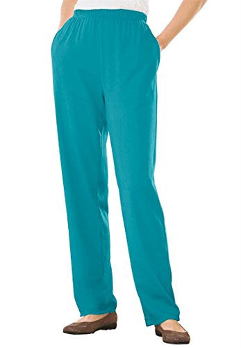 Plus Size Tall 7-Day Knit Pants (Paradise Turq,S)