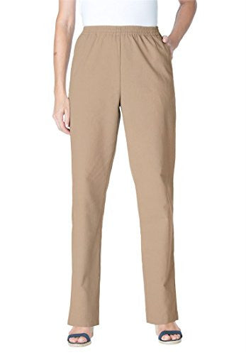 Plus Size Woman Within Tall Calcutta Cloth Pants (New Khaki,30 T)