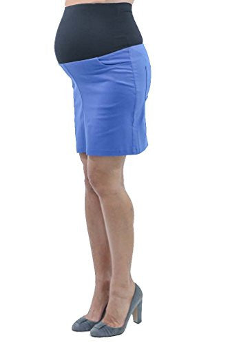 Annee Matthew Short Stretch Maternity Skirt - Royal Blue - Medium