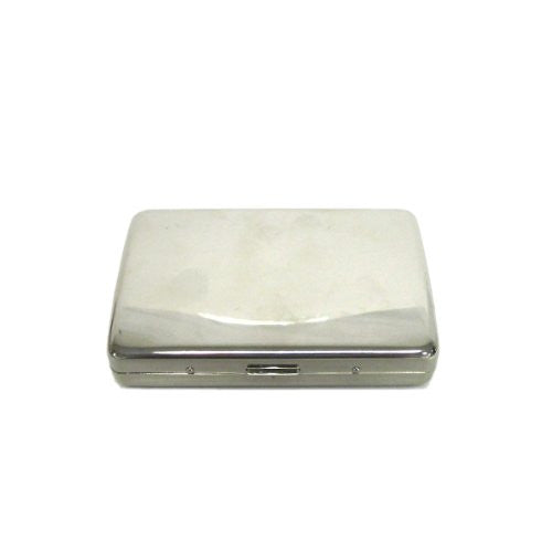 Silver Brass Metal Business Card Holder/Cigarette Case
