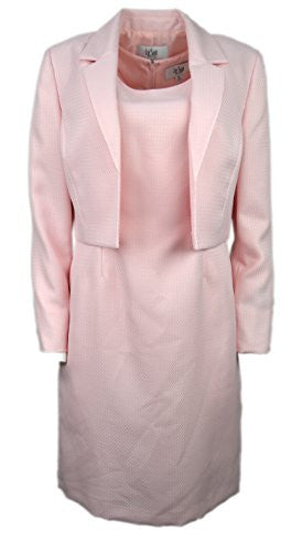 Le Suit Womens Petites Textured Knee-Length Dress With Jacket Pink 8P