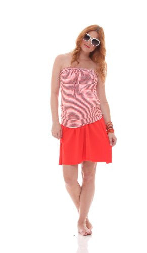 Jules & Jim Maternity : Stretch Skirt - Orange (Small)