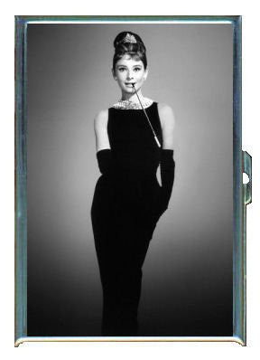 Audrey Hepburn Breakfast B&W Double-Sided Cigarette Case, ID Holder, Wallet with RFID Theft Protection