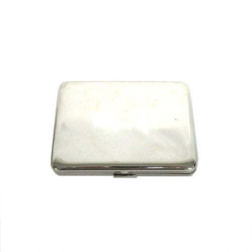 Classic Silver Brass Metal Business Card Holder Case Cigarette Case