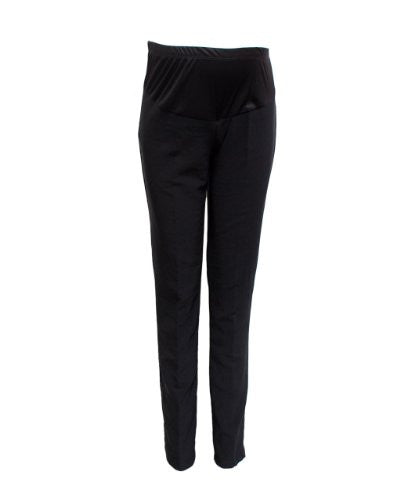 Black Maternity Trousers Elastic Waist Fabric