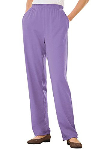 Plus Size Tall 7-Day Knit Pants (Lilac,6X)
