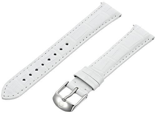 MICHELE MS18AA010100 18mm Leather Alligator White Watch Strap