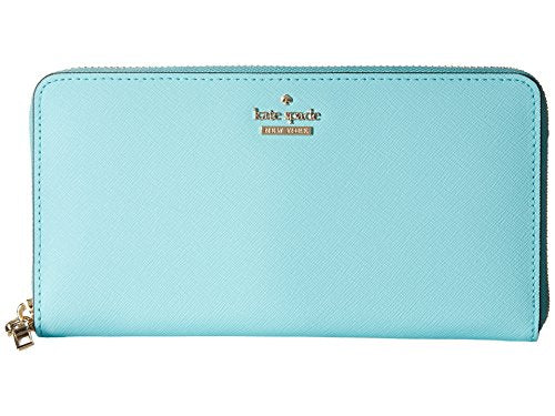 Kate Spade New York Women's Cameron Street Lacey Zip Around Wallet, Atoll Blue, One Size