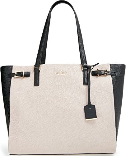 kate spade new york Holden Street Blake Pebbled Leather Tote, Mousse Frosting / Black