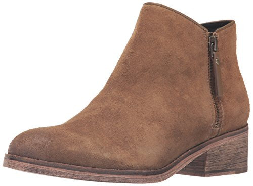 Cole Haan Women's Hayes Flat Ankle Bootie, Olive Suede, 5.5 B US