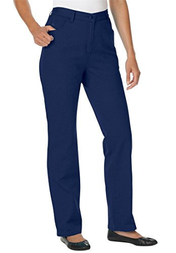 Plus Size Woman Within Tall 5-Pocket Jeans (Indigo,12 T)