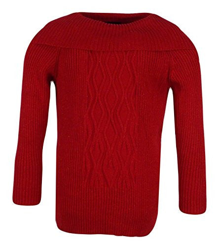 Style & Co Womens Plus-Size Pullover Cowl Fold Over Neck Ribbed Sweater (1X)