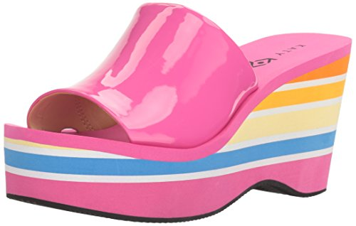 Katy Perry Women's The Casey Wedge Sandal, Fuchsia, 10 Medium US