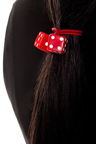 Banned Red Dice Hair Band - Red/White / One Size