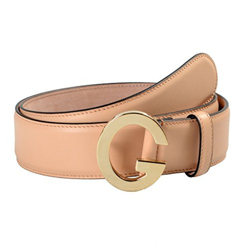 Gucci Unisex Beige Buckle Decorated Leather Belt US 36 IT 90;