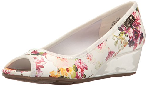 AK Anne Klein Sport Women's Camrynne Synthetic, White/Multi Floral, 7 M US