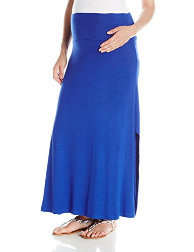 Everly Grey Women's Maternity Sienna Skirt, Sapphire, Large