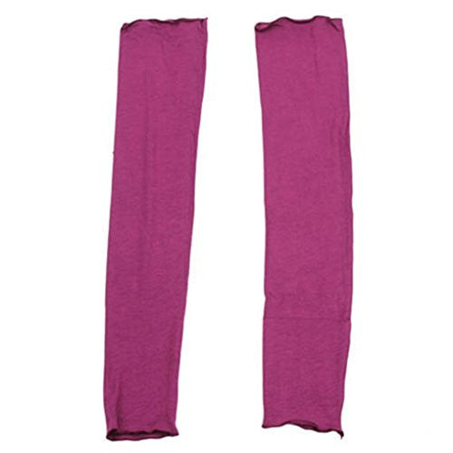 Braceus Women's UV Protection Arm Sleeves Long Gloves for Golf Driving - Purple