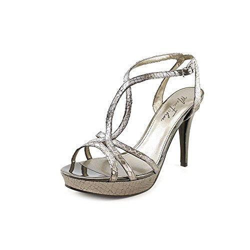 Marc Fisher Too Hot Women US 10 Silver Platform Sandal