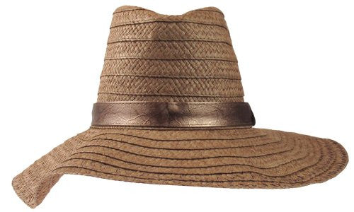 Capelli New York Floppy Fedora With Metallic Band Brown Combo