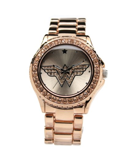 Wonder Woman Watch RoseGold with Light Peach Toned Stones (WOW 8008)