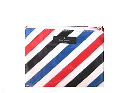 kate spade New York Mini Pouch Daycation striped designer makeup holder