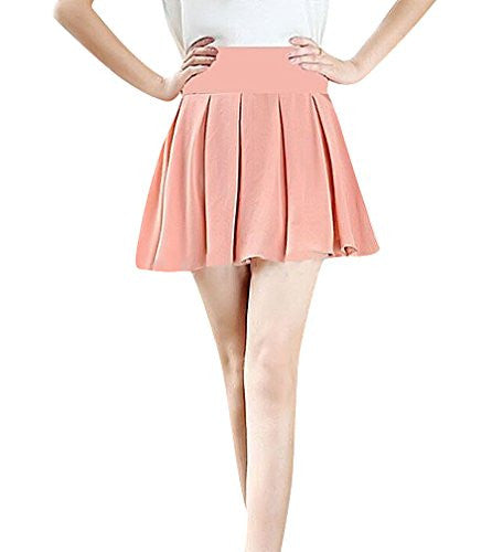MTRNTY Women's Maternity Casual Elastic Waist Plain Lining Short Skirt, Pink X-Large