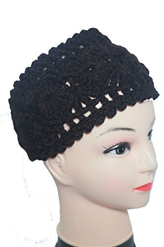 Lida Chrysanthemum Pattern Headband (black)
