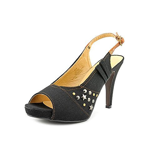 Beacon Comet Women US 10 Black Peep Toe Slingback Heel