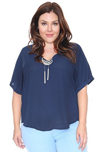 Fundamentals by White Swan Women's 3 Pocket V-Neck Solid Scrub Top XX-Small Navy