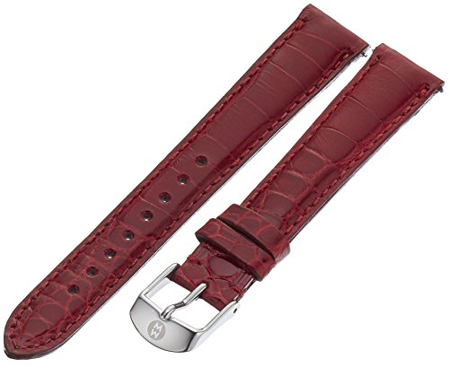 MICHELE MS16AA010611 6mm Leather Alligator Red Watch Strap