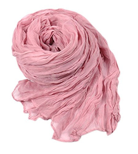 Crazy Women's Voile Crinkle Scarf Shawl-xiang pi