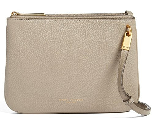 Marc Jacobs Pike Place Double Percy Leather Crossbody,Cement