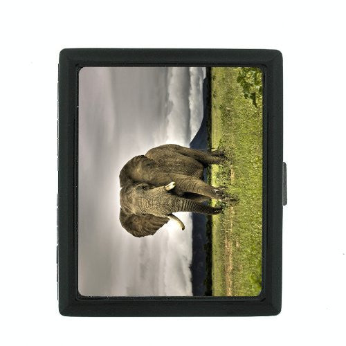 Metal Cigarette Case Holder Box Elephant Design-001
