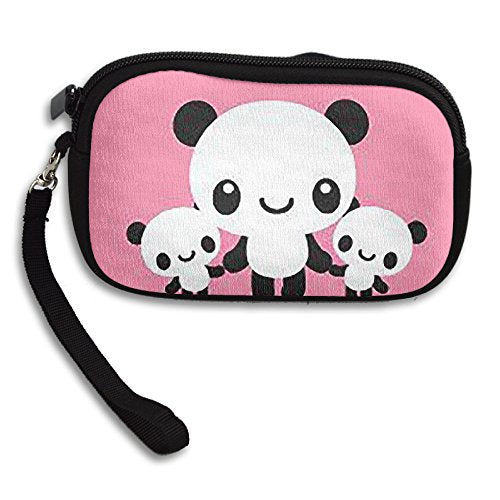 AMOLLA MOHAMMADI PINK PANDA Women's Compact A Super Durable Little Wallet Coin Purse Notecase