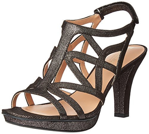 Naturalizer Women's Danya Platform Dress Sandal, Black/Pewter, 7 N US