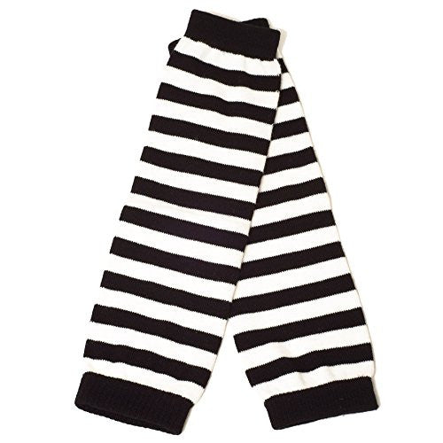 Armwarmers Wide Stripes (Black/White)