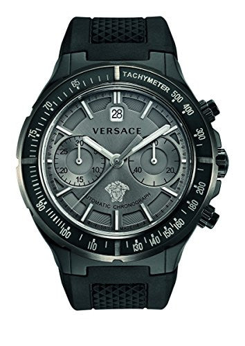 Versace Women's 26CCS7D455 S009 DV One Automatic Chrono Tachymeter Black Watch