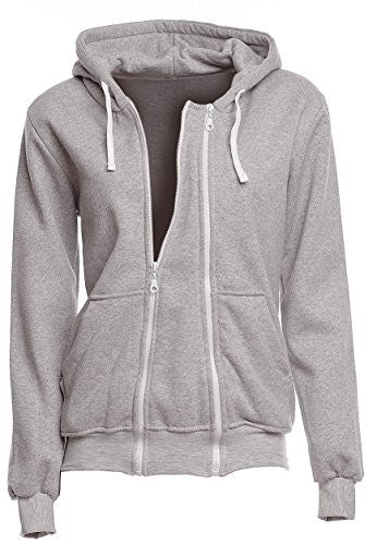 Happy Mama. Womens Maternity Warm Hoodie Zip Front Top Removable Insert. 355p (Grey Melange, US 12/14, 3XL)