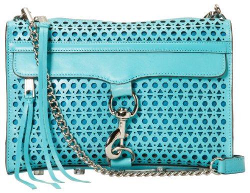 Rebecca Minkoff Mac Perforated 10CETPCCR2 Clutch,Turquoise,One Size