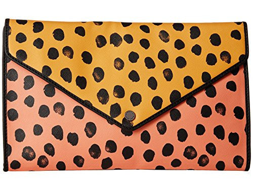 Marc by Marc Jacobs Women's Metropoli Deelite Dot Polyvinylchloride Envelope Clutch Crossbody Sundance Orange Multi Clutch