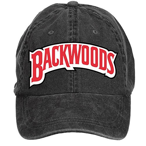 ClShrt Washed Adjustable Backwoods Cigars Symbol Cotton Outdoor Baseball Cap For Unisex Black