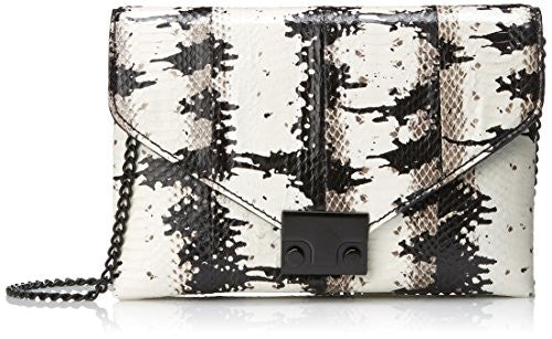 LOEFFLER RANDALL Junior Lock Clutch, White/Black, One Size